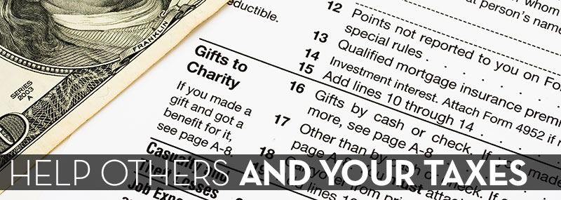 Help Others and Your Taxes